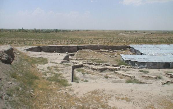 Vista de una parte del yacimiento arqueológico de la ciudad de Purushanda