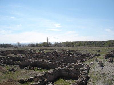 Vista parcial del yacimiento de la colonia comercial asiria de Kanesh