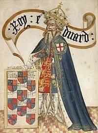 Eduardo III de Inglaterra (1312-1377), en la ilustración con la Orden de la Jarretera que él mismo fundó