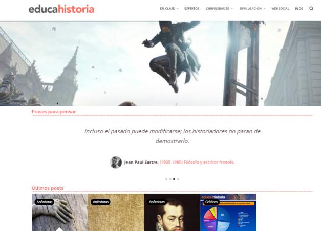 Captura de pantalla de esta magnífica web de Historia