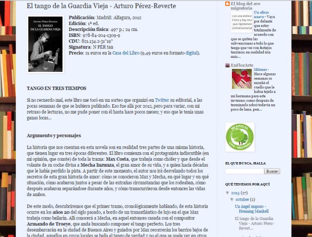 Captura de pantalla de una de las recomendaciones de este gran blog