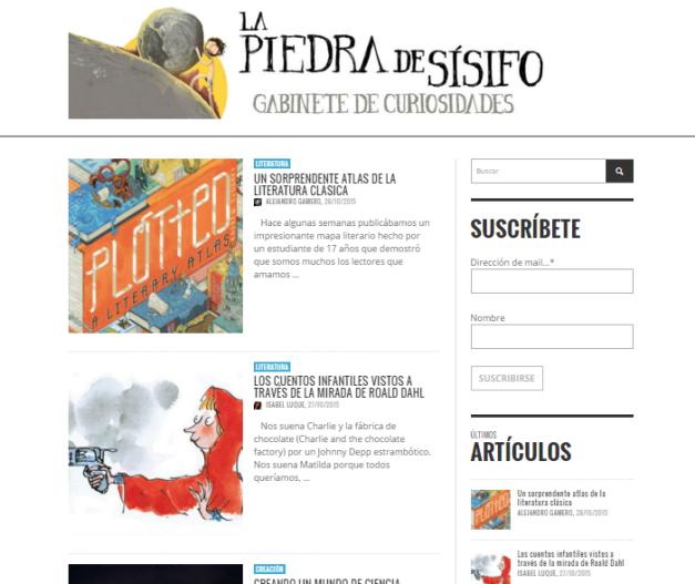 Captura de pantalla general de esta gran web de curiosidades multitemáticas