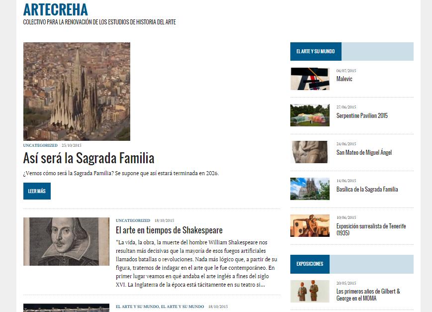 Captura de pantalla general de esta gran web de Historia del Arte