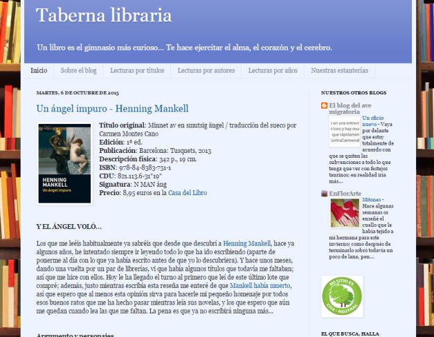 Captura de pantalla general de este gran blog de recomendaciones