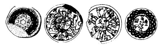 Dibujos hechos a partir de ejemplos reales de sellos del Reino Medio hitita