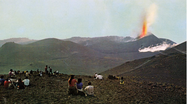 Erupción del volcán Teneguía en 1971