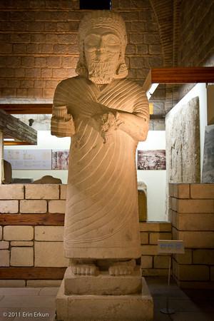 Estado actual de una estatua del rey Muwatali II