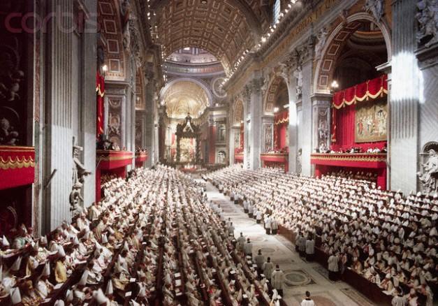 Fotografía histórica del Concilio Vaticano II