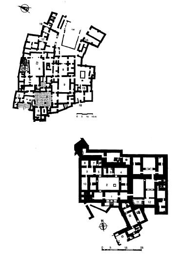 Plantas de palacios sirios de finales de la Edad del Bronce