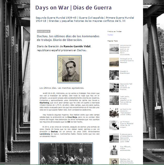 Captura de pantalla general de este gran blog de Historia militar