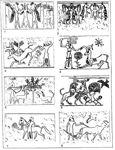 Glíptica medio asiria del siglo XIV y XIII a.C.