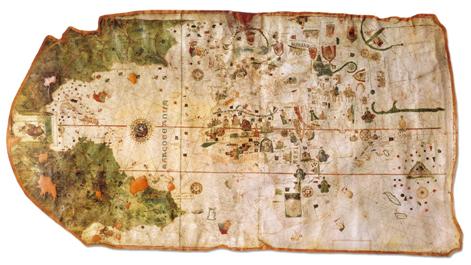 Ilustración 1: Mapa Mundi de Juan de la Cosa. 1500. (Museo Naval de Madrid)