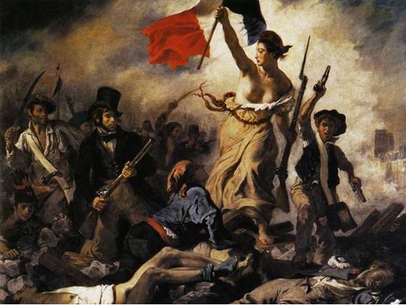 """Ilustración 5: """"Libertad guiando al pueblo"""", pintado por Delacroix. 1830. (Museo del Louvre)"""