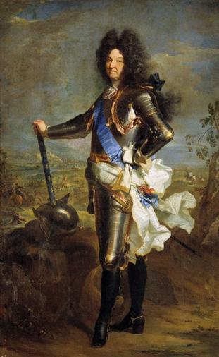 Ilustración 6: Luis XIV, pintado por Hyacinthe Rigaud. 1707 (Museo del Prado)