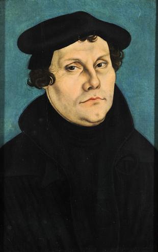 Ilustración 7: Retrato de Martín Lutero, pintado por Cranach.1529. (Galería Uffizi)