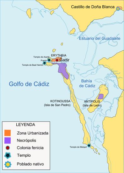 Mapa explicativo de las islas Gadeiras