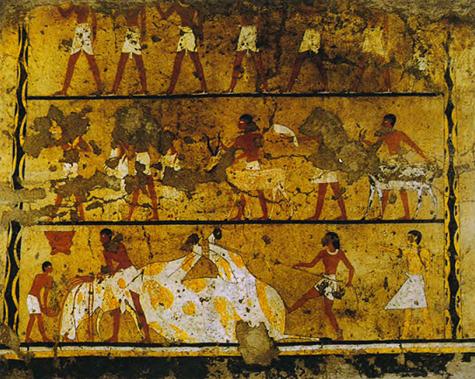 Pintura de la tumba de Iti en Gebelein