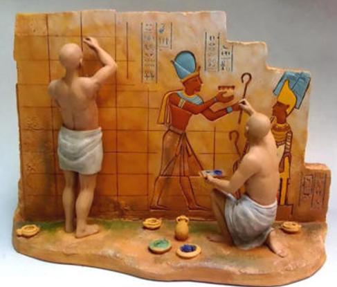 La pintura en el antiguo egipto for Trabajo para pintores