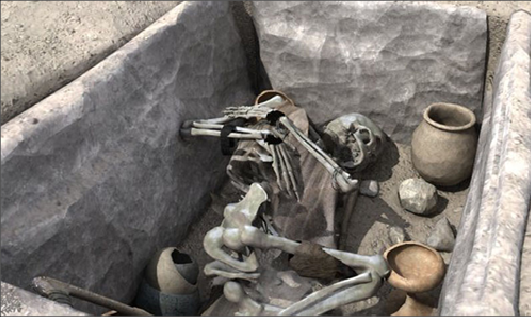 Enterramiento en cista de la Cultura Argárica