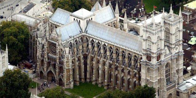 La Abadía de Westminster desde el aire