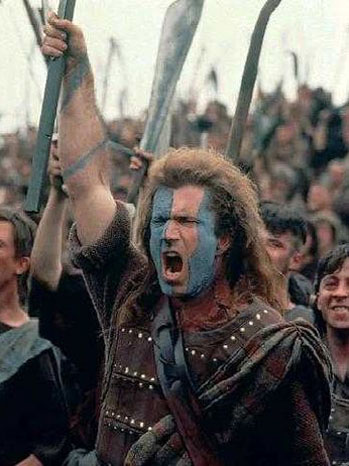 Mel Gibson supuestamente caracterizado como William Wallace