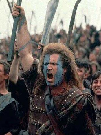 Mel Gibson supuestamente caracterizado como William Wallace