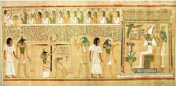 Papiro en el que se observa el Juicio del Alma