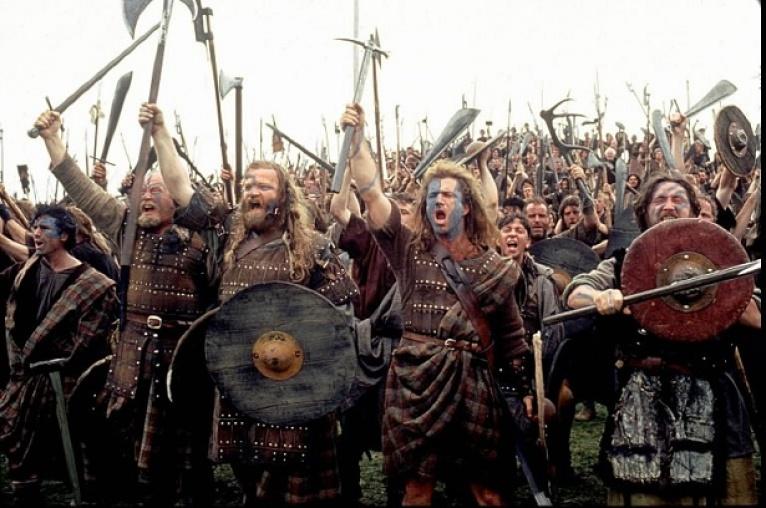 Una de las famosas escenas de batalla de la película