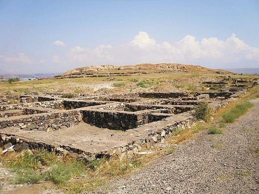 Yacimiento de Karmir Blur (Armenia), famoso por su necrópolis de la Edad del Hierro