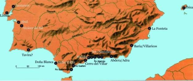 Asentamientos fenicios en el sur de la península Ibérica