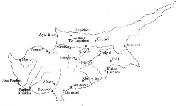 Asentamientos fenicios en la isla de Chipre