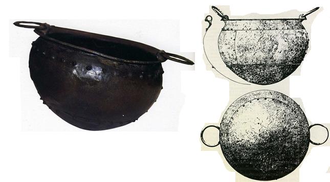 Calderos para banquetes típicos del Bronce final atlántico