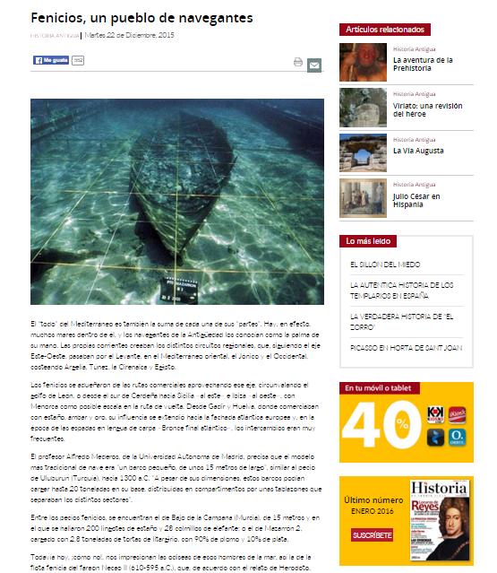 Captura de pantalla de uno de los artículos de esta gran página web