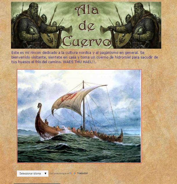 Captura de pantalla general de este gran blog de la cultura nórdica