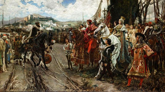 La rendición de Granada, cuadro de Francisco Padilla