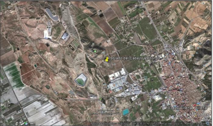 Localización del poblado de Cabezo Redondo (Alicante), lugar de hallazgo del Tesoro de Villena