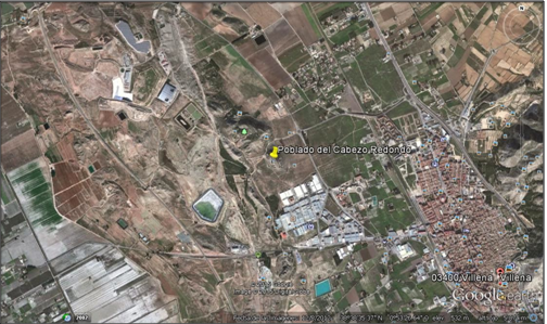 Localización del poblado de Cabezo Redondo (Alicante)