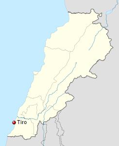 Ubicación de la ciudad de Tiro