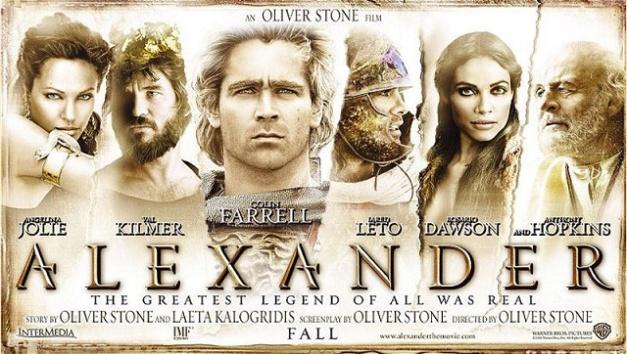 Uno de los carteles promocionales de la versión de Alejandro Magno de Oliver Stone
