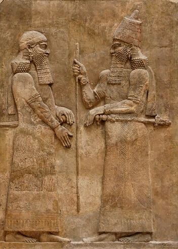 Bajorrelieve en el que se muestra al rey asirio Sargón II