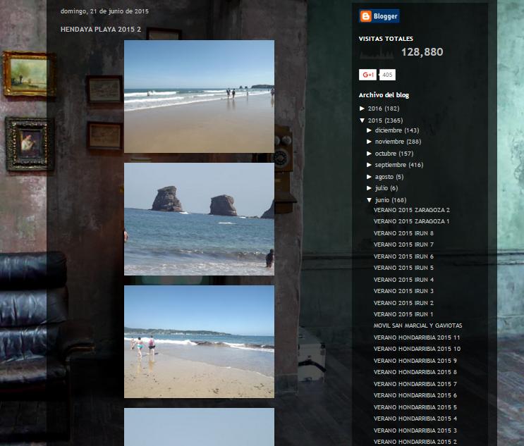 Captura de pantalla de uno de los artículos de este blog de viajes