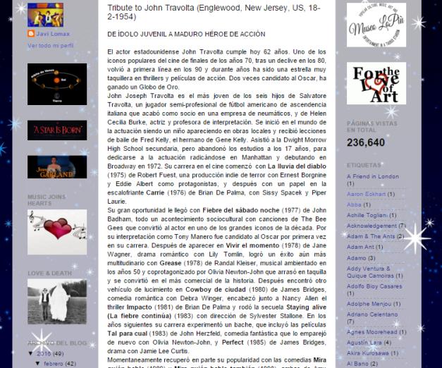 Captura de pantalla de uno de sus más recientes artículos