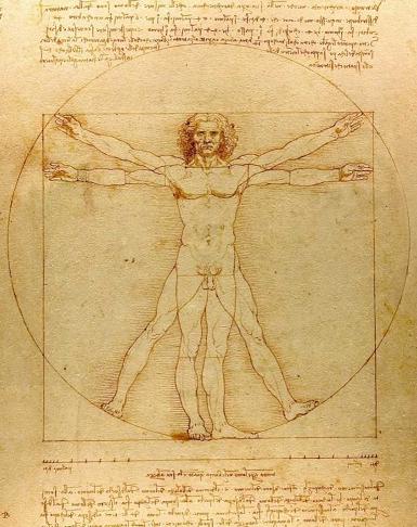 """Ilustración 2 – Representación de """"El Hombre de Vitruvio"""" de Leonardo Da Vinci en 1490"""