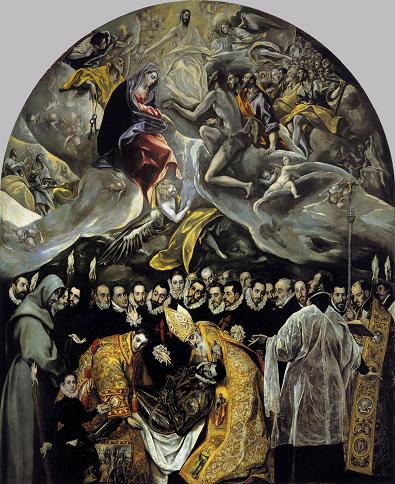 Ilustración 3 - El entierro del Conde de Orgaz (1588), Domenico Teotocopuli El Greco