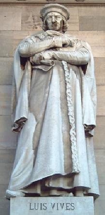 Ilustración 5 - Estatua de Luis Vives en el pórtico de la Biblioteca Nacional de España