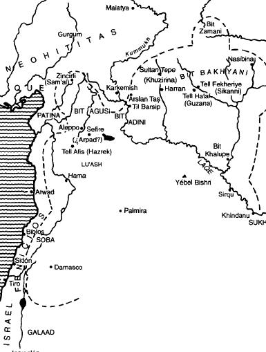 Los arameos en Siria y la Alta Mesopotamia entre el 900 y el 700 a.C.