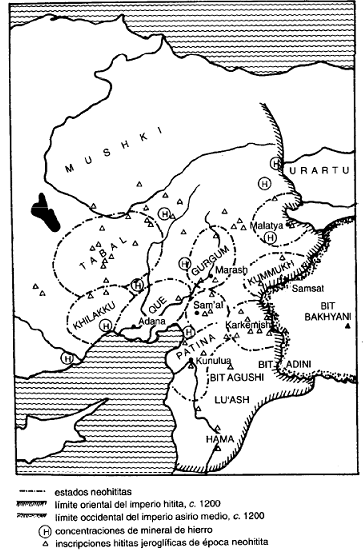 Los Estados neohititas entre el 1000 y el 700 a.C.