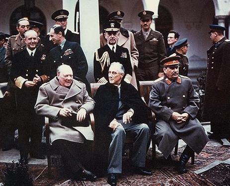 Los grandes líderes durante la Conferencia de Yalta