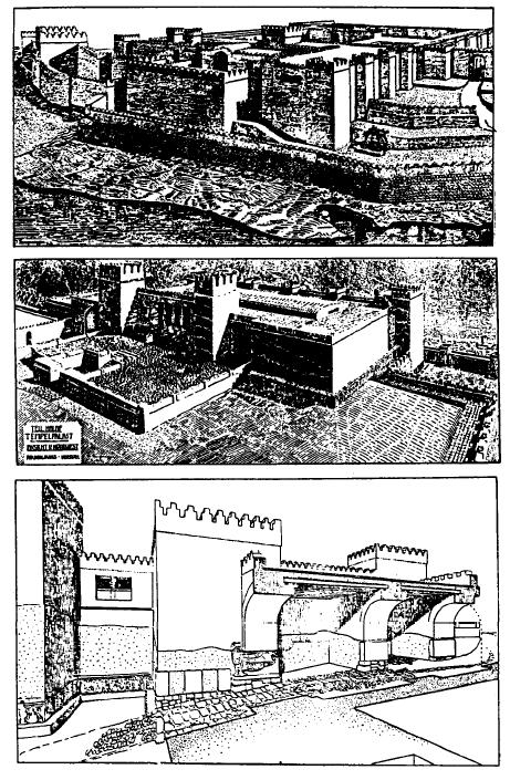 Varias reconstrucciones de Guzana, capital de Bit Bakhyani (Alta Mesopotamia)
