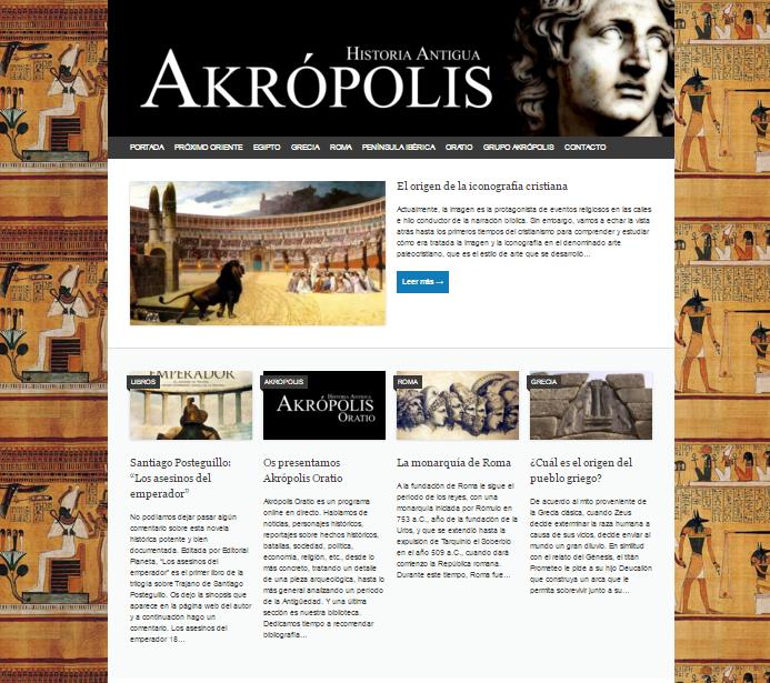 Captura de pantalla de esta gran web de Historia antigua